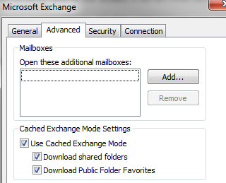 Exchange Cached Mode