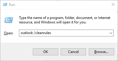 Clean Outlook Rules